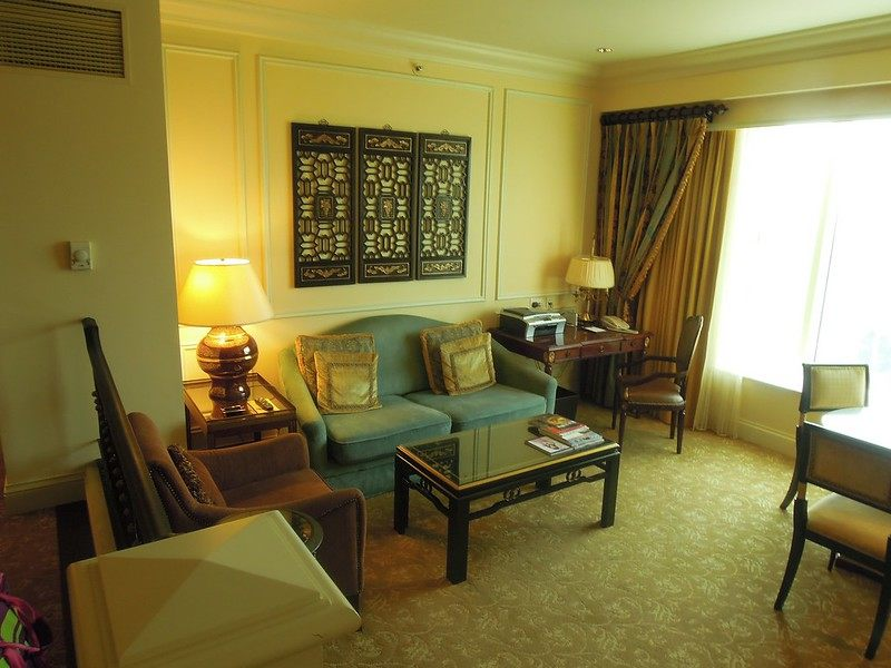 The living room and reception area at The Venetian Macao Resort Hotel