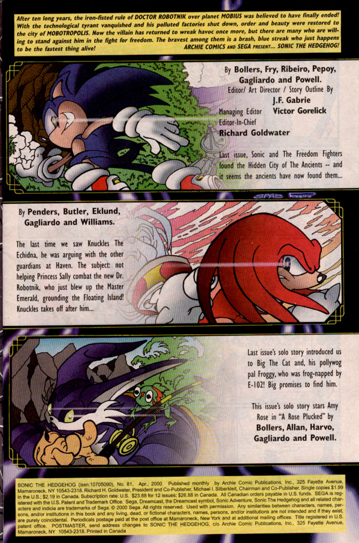 Read online Sonic The Hedgehog comic -  Issue #81 - 2