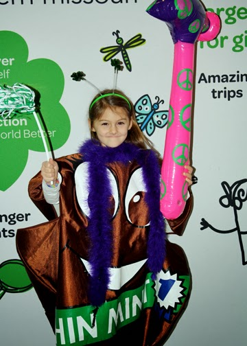 Tessa dressed up as her favorite Girl Scout cookie at Cookie Rally 2014.