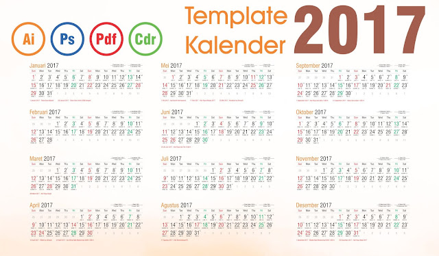 Calendar 2017 Indonesia Cdr 7