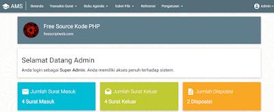 Source Code PHP MySQL Aplikasi Manajemen Surat