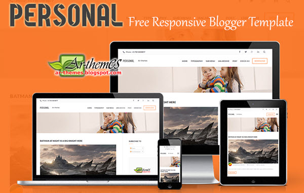 Giao diện blogger Personal Responsive