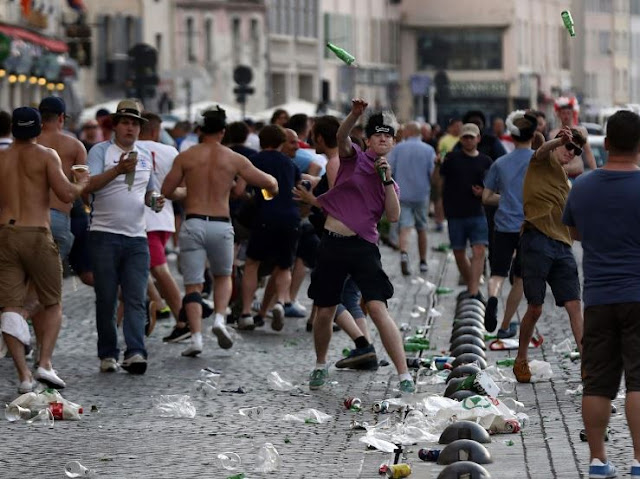 Violence Between England And Russia Fans