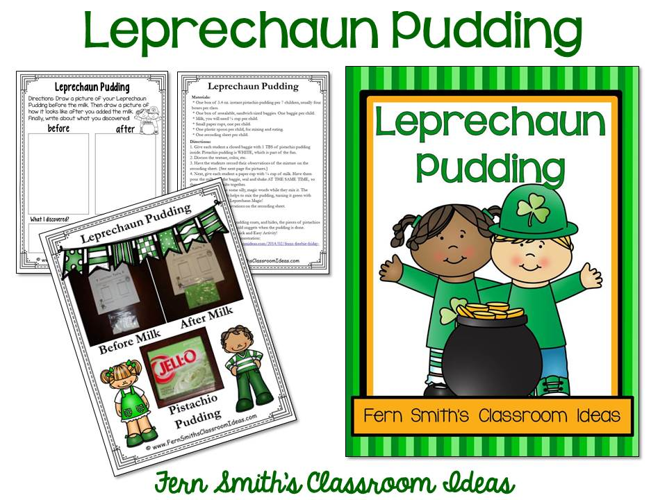 FREE! Leprechaun Pudding Science STEM Activity Includes Teacher Directions and Student Science Observation Sheet!
