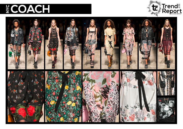 Spring/Summer 2017, SS17, Fashion trends, Trend prediction, fashion favourites, fashion blog, runway collection, trend report, soft punk, punk trend, punk fashion, punk style, biker jacket, biker fashion, romantic trend, punk romance, soft punk, floral print, Coach