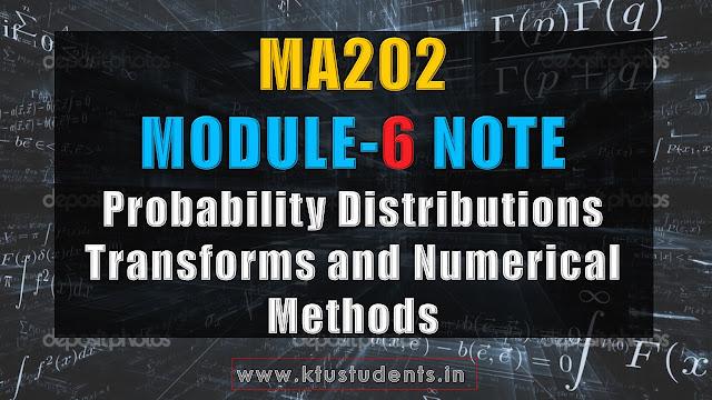ktu ma202 note module 6