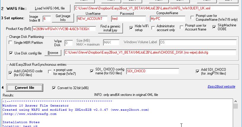 Windows 10 Answer File