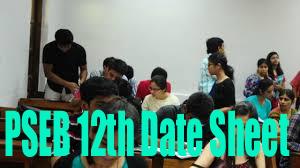PSEB 12th Date Sheet 2018
