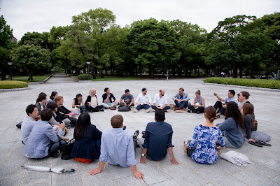 A quick wrap up on the last day at the Hiroshima Memorial Peace Park. Photo credit: ChangemakerXchange