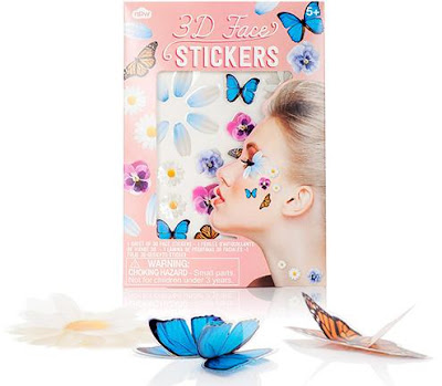 3D Butterfly Face Stickers