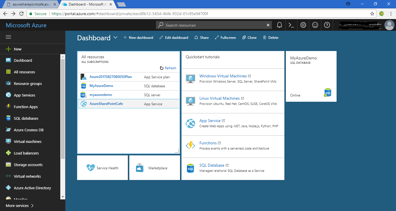 Publish Web App to Microsoft Azure