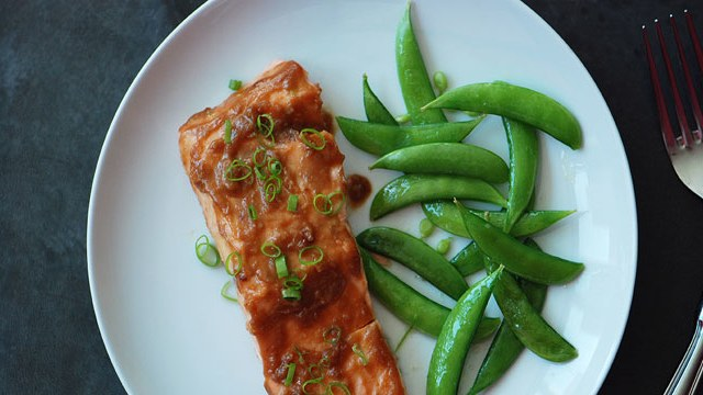 Miso Glazed Salmon Recipe with Snap Peas
