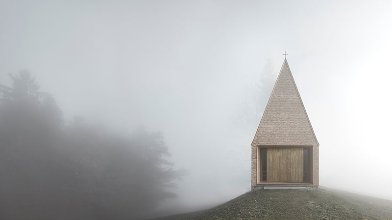 St Raphaels Summer Solstice Steeple >> Chapel Salgenreute By Bernardo Bader Architects