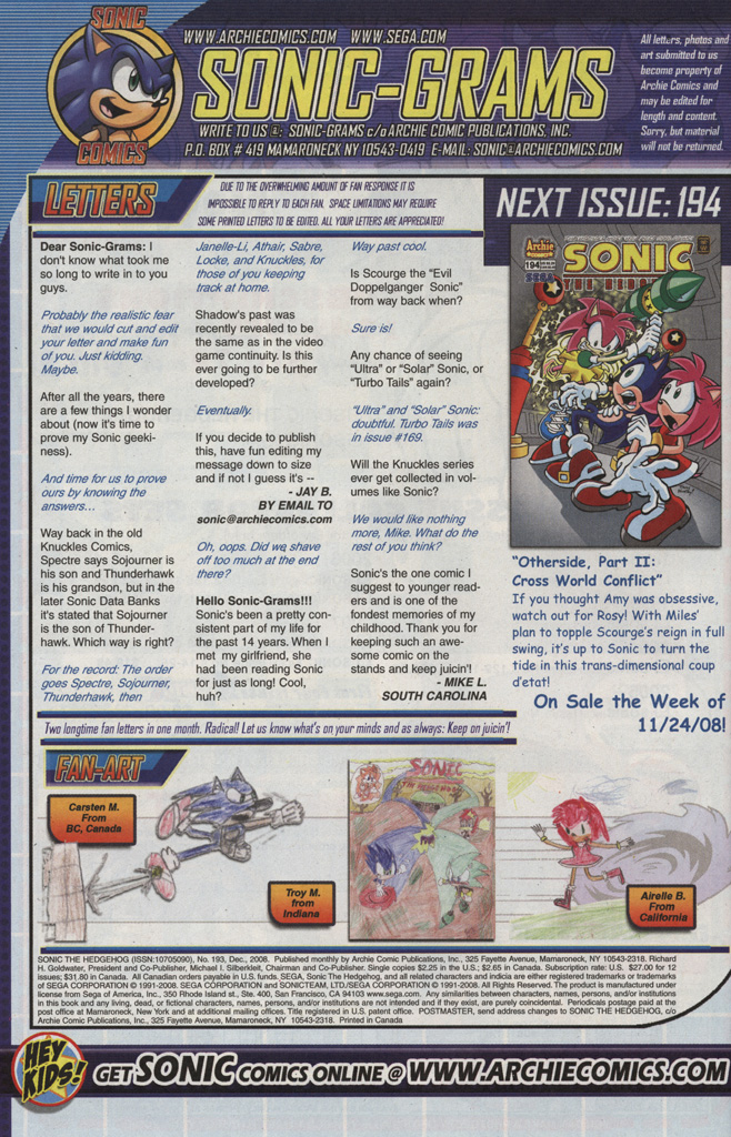 Read online Sonic The Hedgehog comic -  Issue #193 - 26