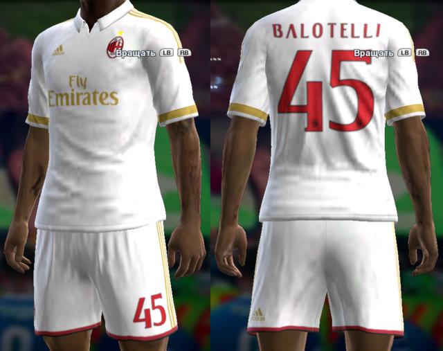 PES 2013 AC Milan Kit Season 2016/17