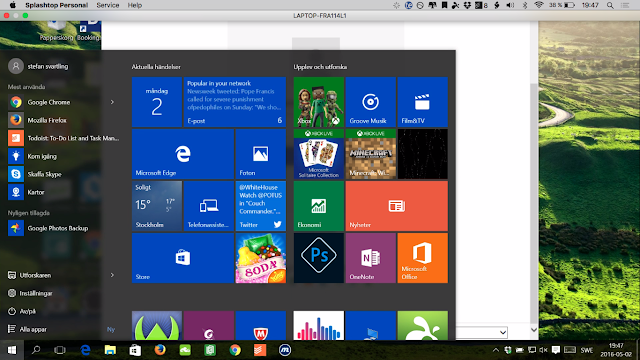 Splashtop running on my Mac