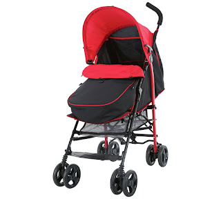 argos baby travel fits up to 19 months, Pushchair plus Footmuff £59.99 black and red