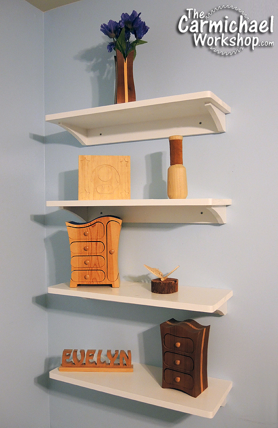 Easy Wall Shelves Woodworking Project