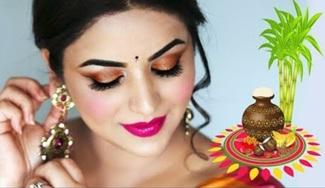PONGAL MAKAR SHANKRANTI LOOK | INDIAN FESTIVAL MAKEUP