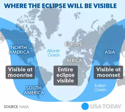 lunar eclipse time map