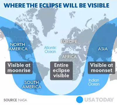 lunar eclipse time map