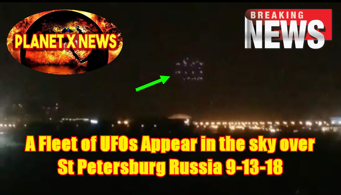 A Fleet of UFOs Appear in the sky over St Petersburg Russia on Sept. 13t...