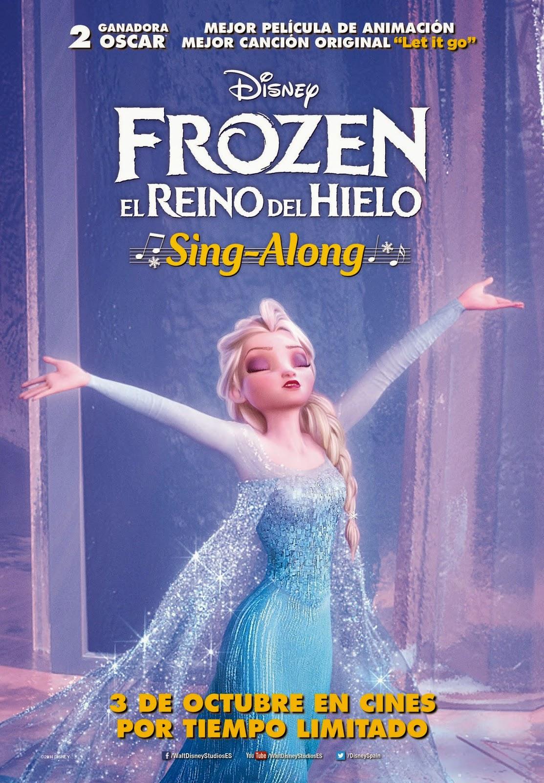 Cartel oficial del Sing-Alone de Frozen