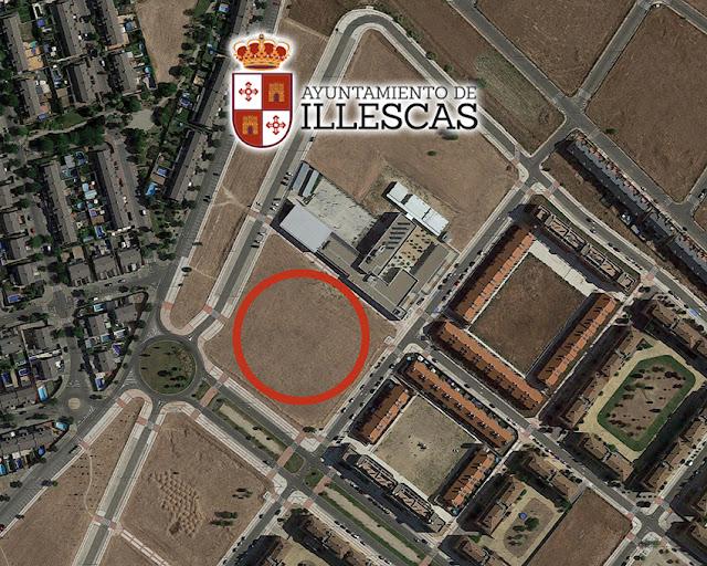 ubicacion del nuevo centro educativo en El Señorio de Illescas