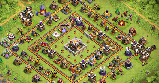 9 CONTOH BASE COC TH 11 PALING KUAT AGAR JADI TOP PLAYER