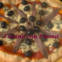 Pizza de roquefort con sabor a mar
