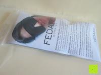 Verpackung: Schlafmaske DORMIDO von Fedano - Premiumqualität aus BIO-Baumwolle und Echter SEIDE - Schwarz - Hochwertige Schlafbrille & Augenmaske für Frau und Mann - Für die Reise und Zuhause Geeignet - HERGESTELLT in MÜNSTER, NRW