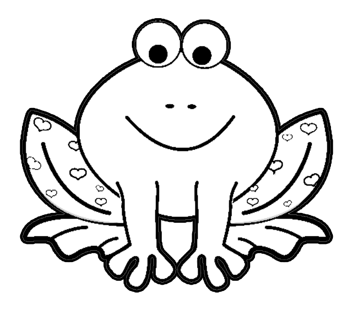 Cute frog coloring books for drawing kids for Cute frog coloring pages