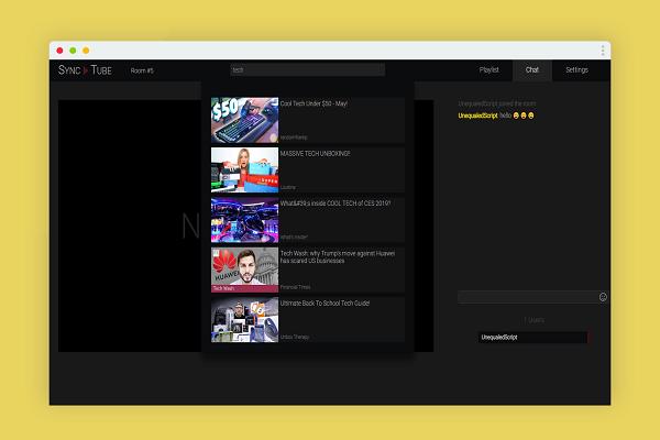 استمتع بمقاطع فيديو اليوتوب مع أصدقائك في وقت واحد مع الشات معخم باستخدام موقع SyncTube