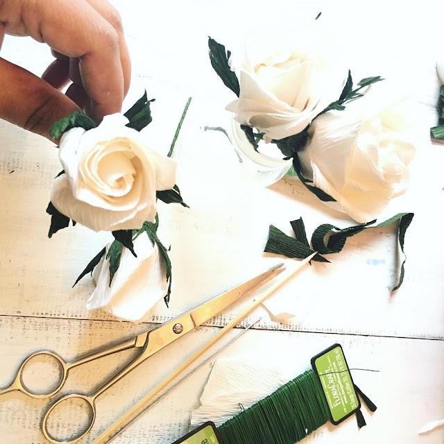 paper roses handmade