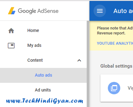 Go to Adsense Account - My Ads - Auto Ads, Adsense Auto ads kya hai