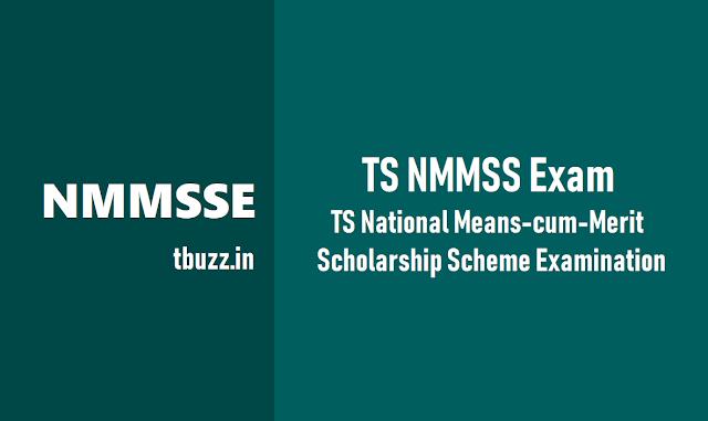 ts nmms exam 2018, ts national means-cum-merit scholarship scheme examination 2018, ts nmmse exam 2018, తెలంగాణ నేషనల్ మీన్స్కమ్ మెరిట్ స్కాలర్షిప్ పరీక్ష, టిఎస్ ఎన్ఎంఎంఎస్ ఎగ్జామ్ 2018
