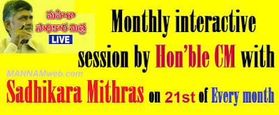 Monthly interactive session by Hon'ble Chief Minister with Sadhikara Mithras on 21st of every month – Govt. Orders - Communicated