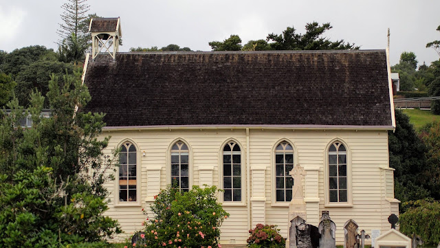 Things to do in Russell New Zealand: Check out the whitewashed church