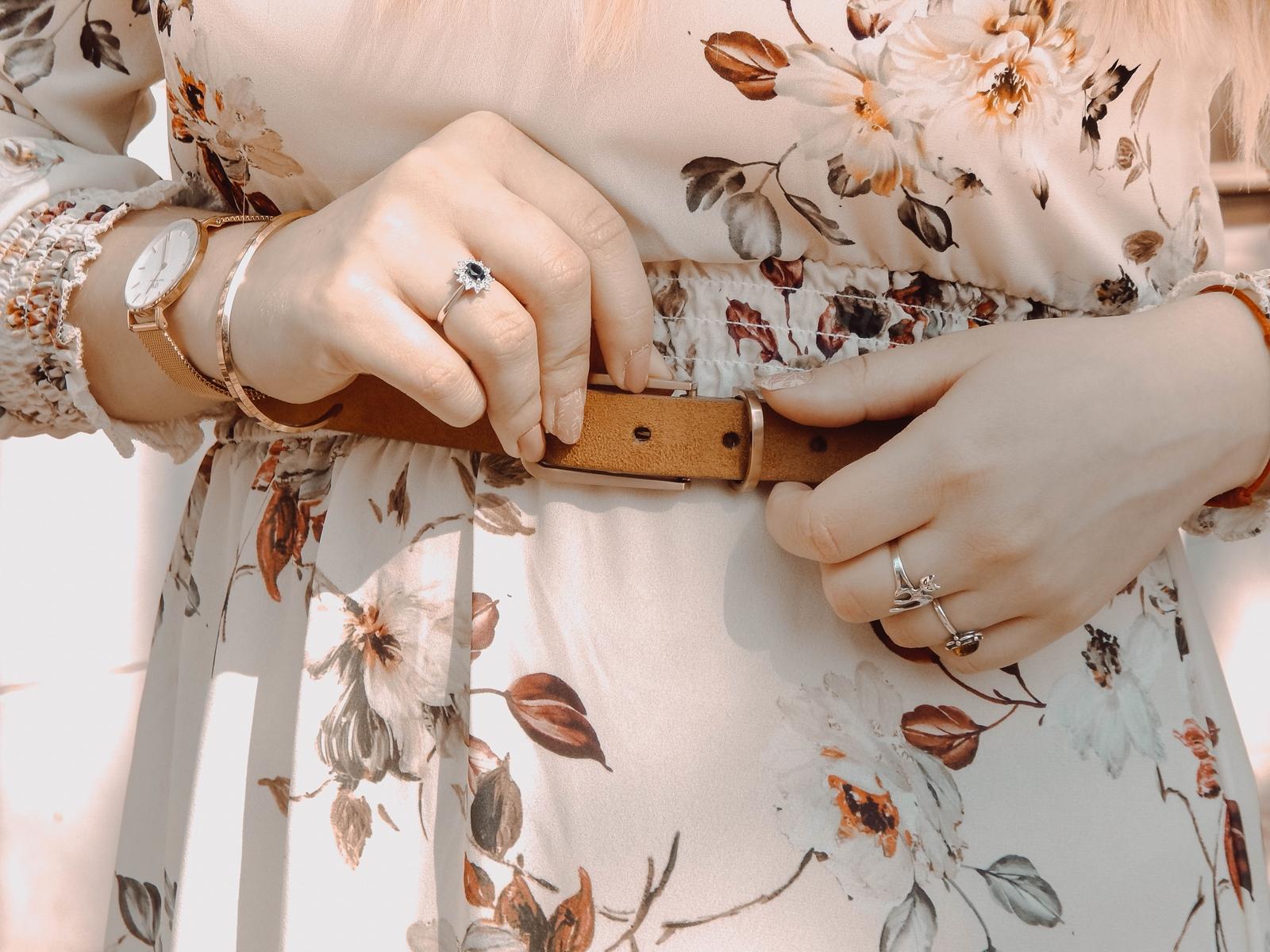 1 maxi sukienka w kwiaty answear jakosc opinie ceny wiosenne trendy 2018 blog moda fashion kapelusz stylizacje boho buty tamaris dodatki parfois