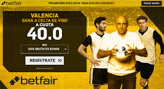 betfair supercuota Valencia gana a Celta 21 abril