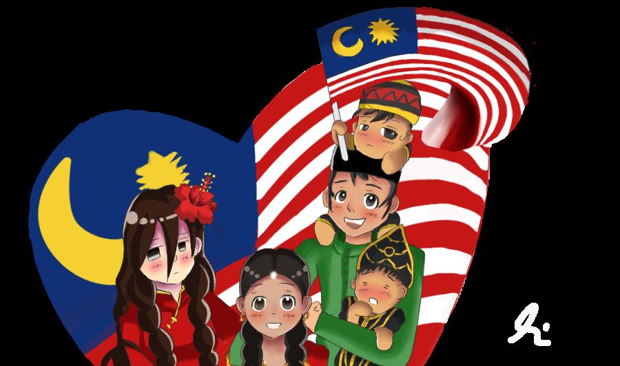 Gambar Perpaduan Kaum Di Malaysia Cartoon