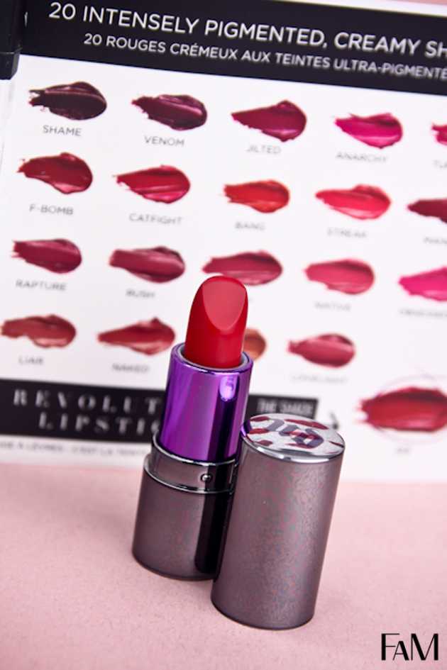 Urban Decay Revolution Lipstick in 69 review swatch demo test