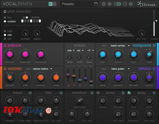 iZotope VocalSynth Offline Setup Free Download