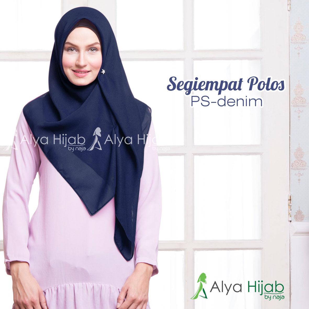 27+ Gambar Lengkap Tutorial Hijab Segi Empat Denim ...