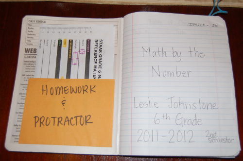 Jack of All Trades MNM Setting Up the Math Notebook - homework assignment book