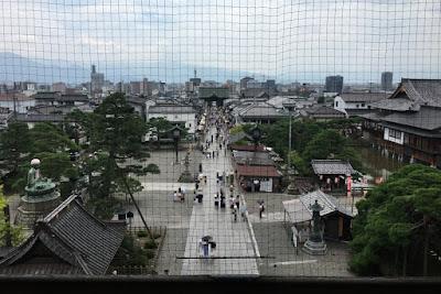 山門上層からの眺め