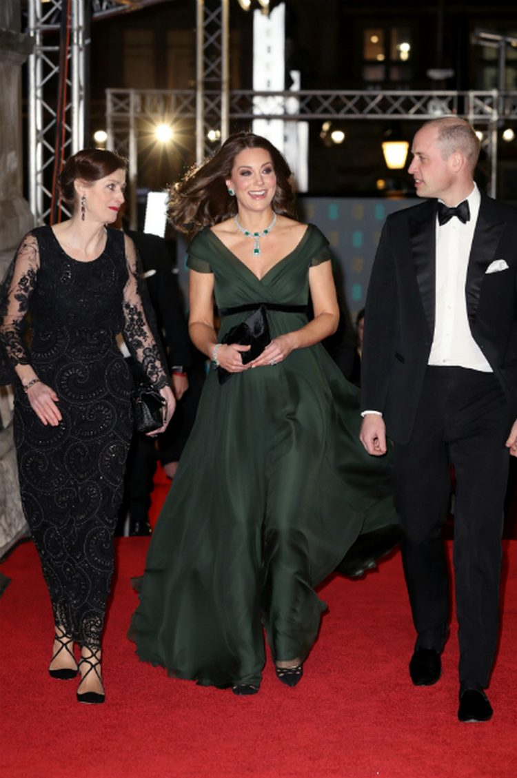 Kate Middleton and Prince William arrived for the BAFTA Awards 2018