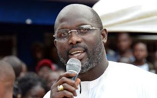 Georges Weah, ancien footballeur, candidat à la présidentielle au Liberia.