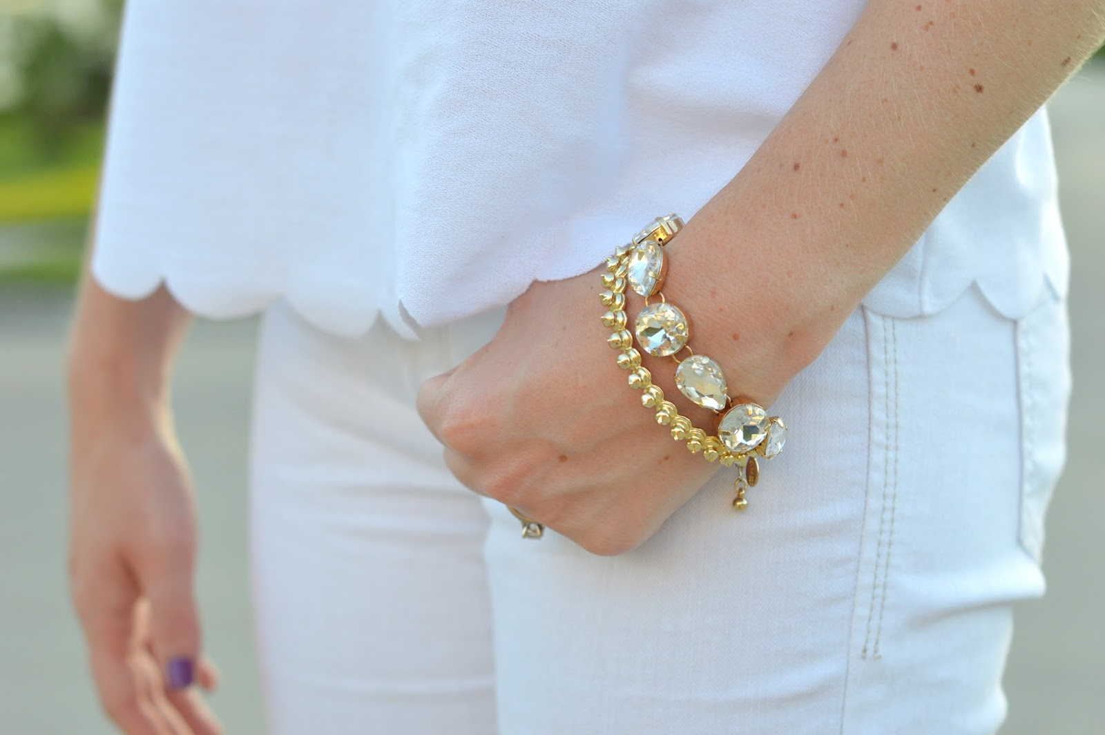 gold arm stack