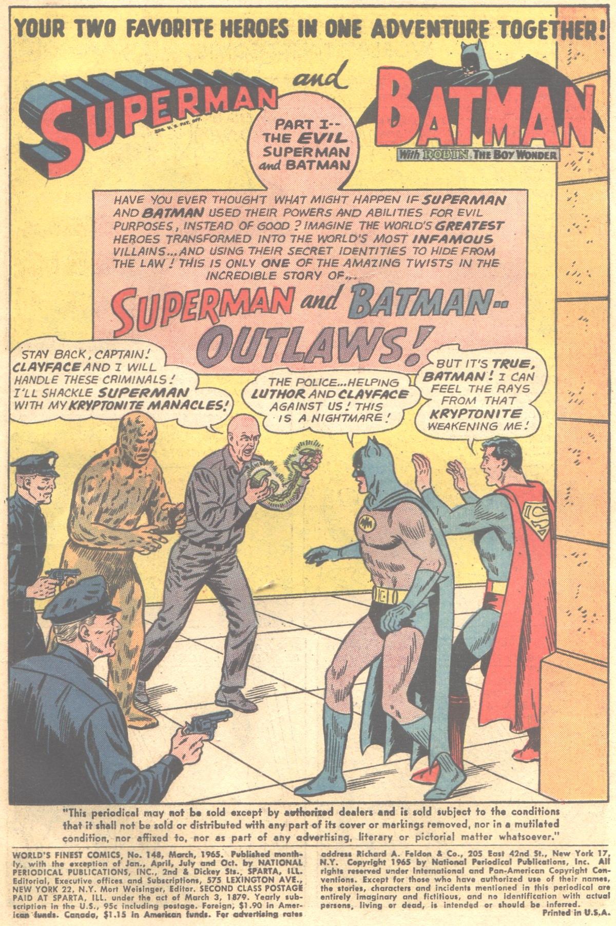 Read online World's Finest Comics comic -  Issue #148 - 3